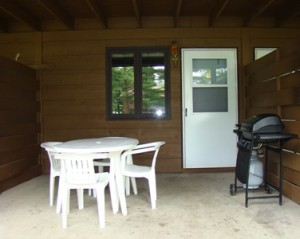 1 bedroom Chalet patio with gas grill s